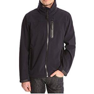 Aigle soft shell jacket stow away hood